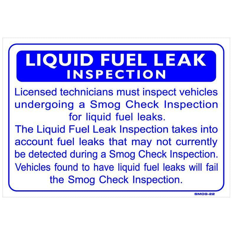 LIQUID FUEL LEAK # SMOG-22