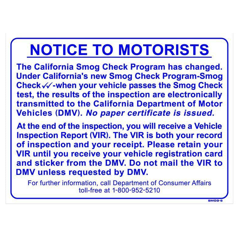 PAPERLESS CERTIFICATE SIGN #SMOG6
