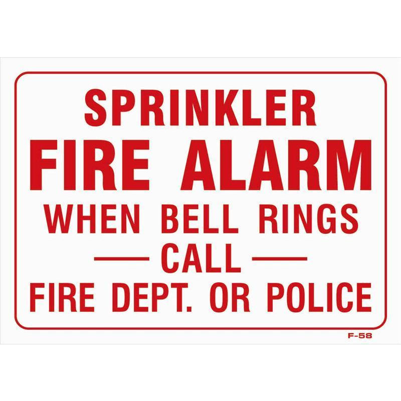 Fire Sprinkler Sign #F58