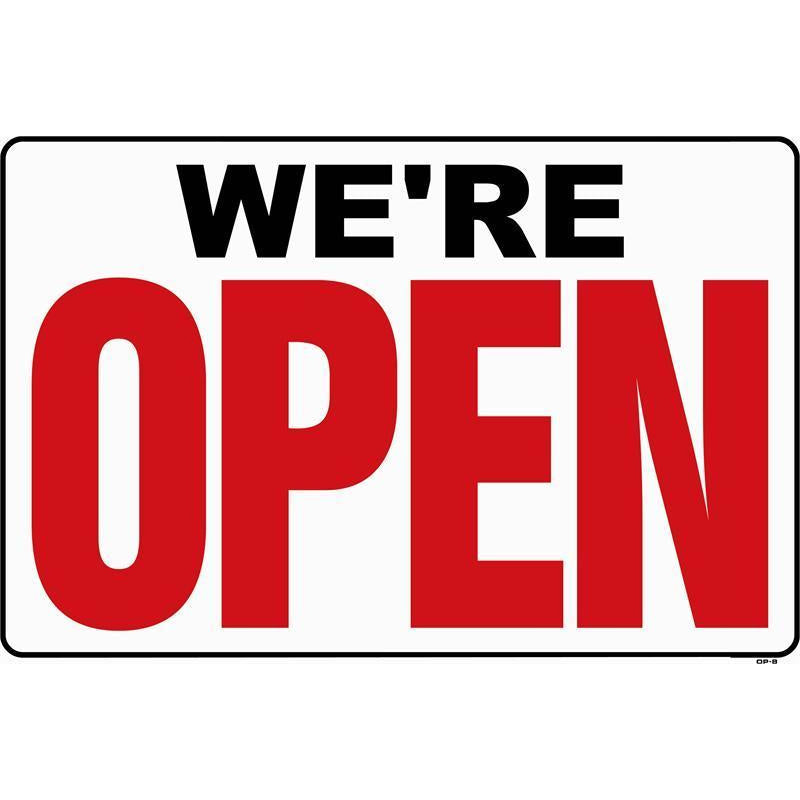 WE'RE OPEN SIGN #OP2