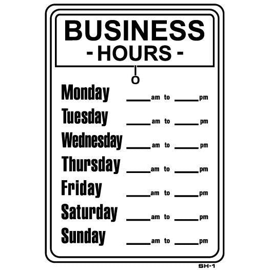BUSINESS HOURS  #SH1