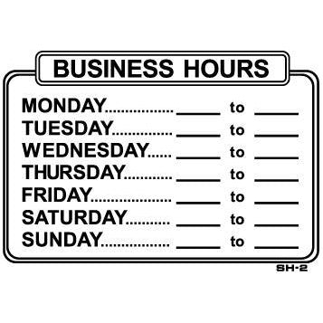 BUSINESS HOURS #SH2