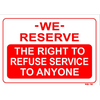 RIGHT TO REFUSE SIGN RS15