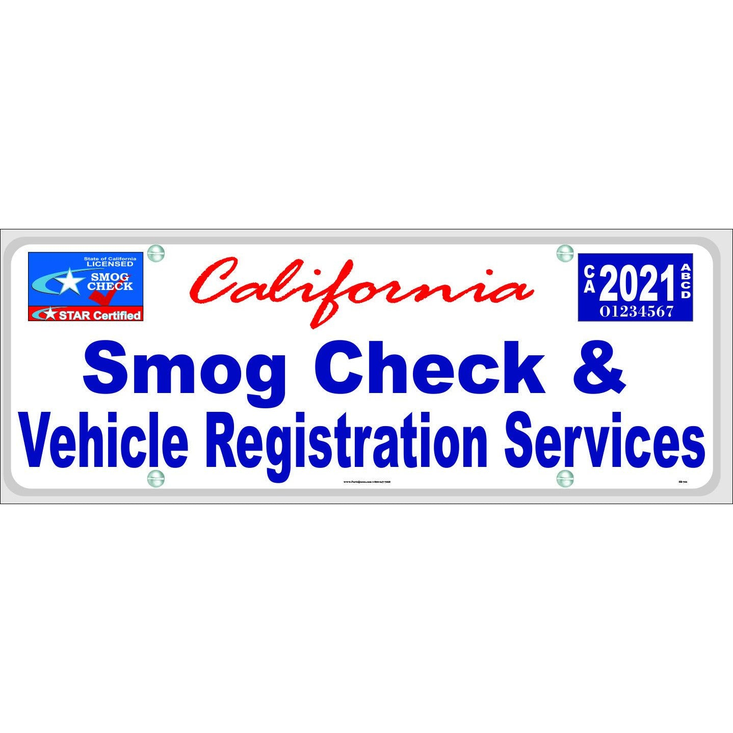 SB-702 SMOG CHECK & VEHICLE REFISTRATION SERVICES, STAR CERTIFIED