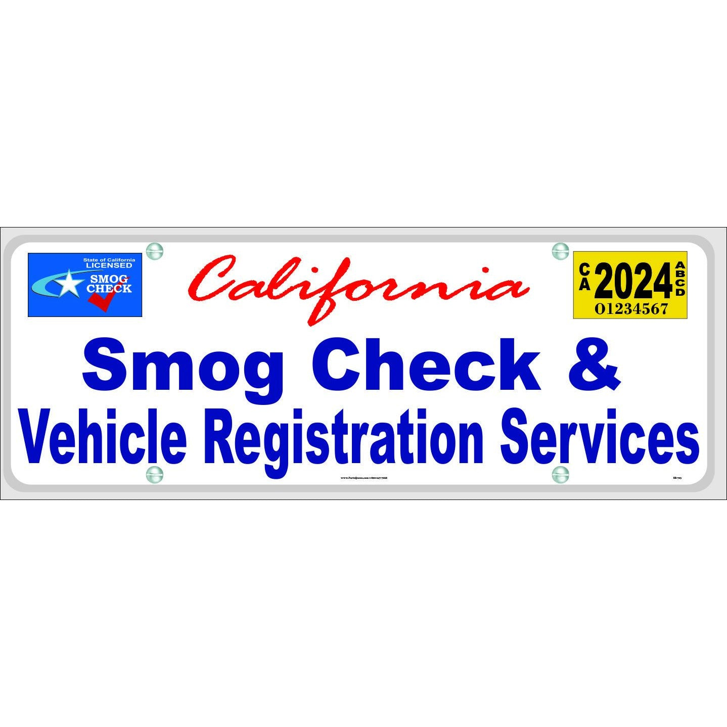 SB-703 SMOG CHECK & VEHICLE REGISTRATION SERVICES