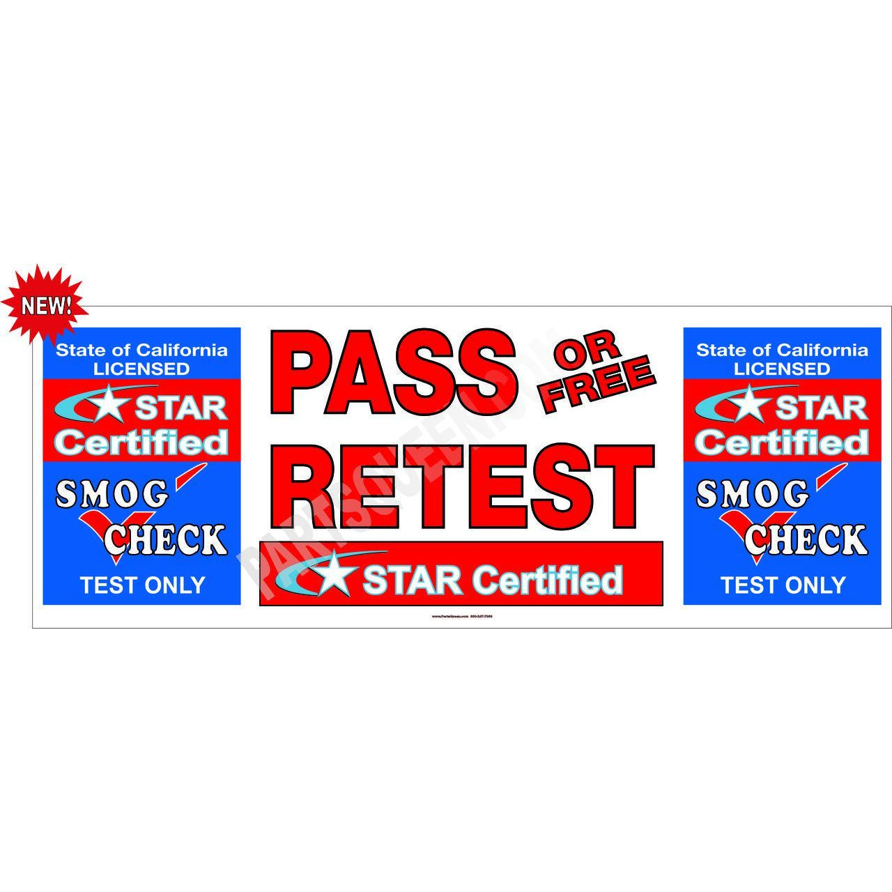 STAR CERTIFIED TEST ONLY PASS / FREE RETEST BANNER  # SB938