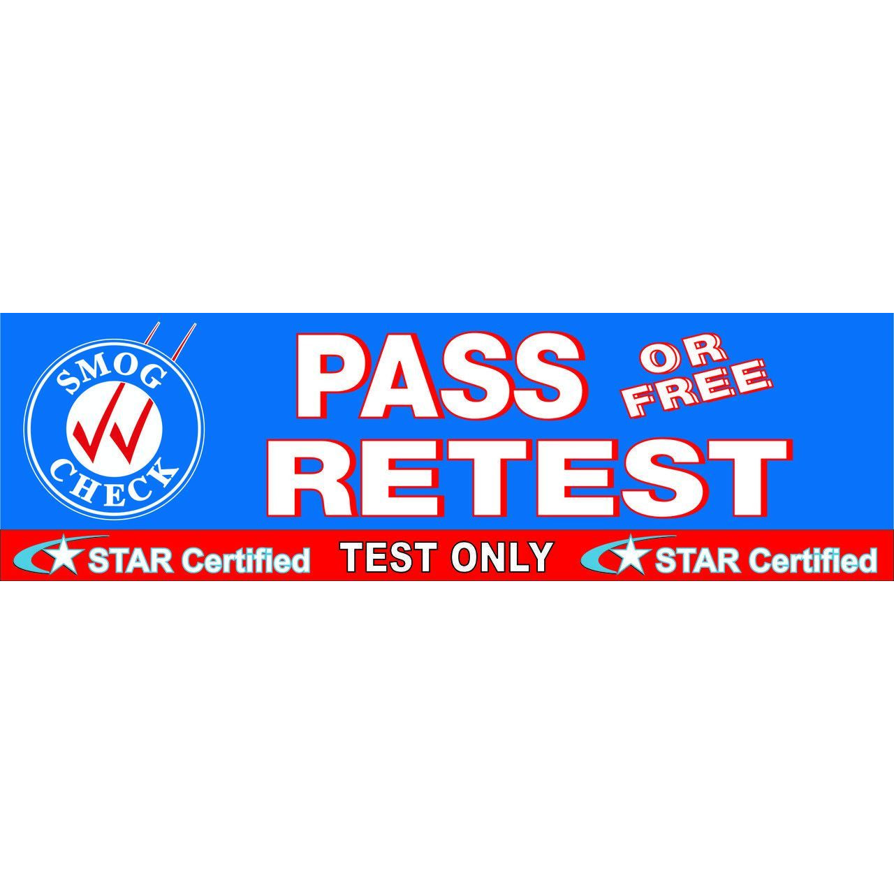 STAR CERTIFIED TEST ONLY PASS / FREE RETEST BANNER  SB942