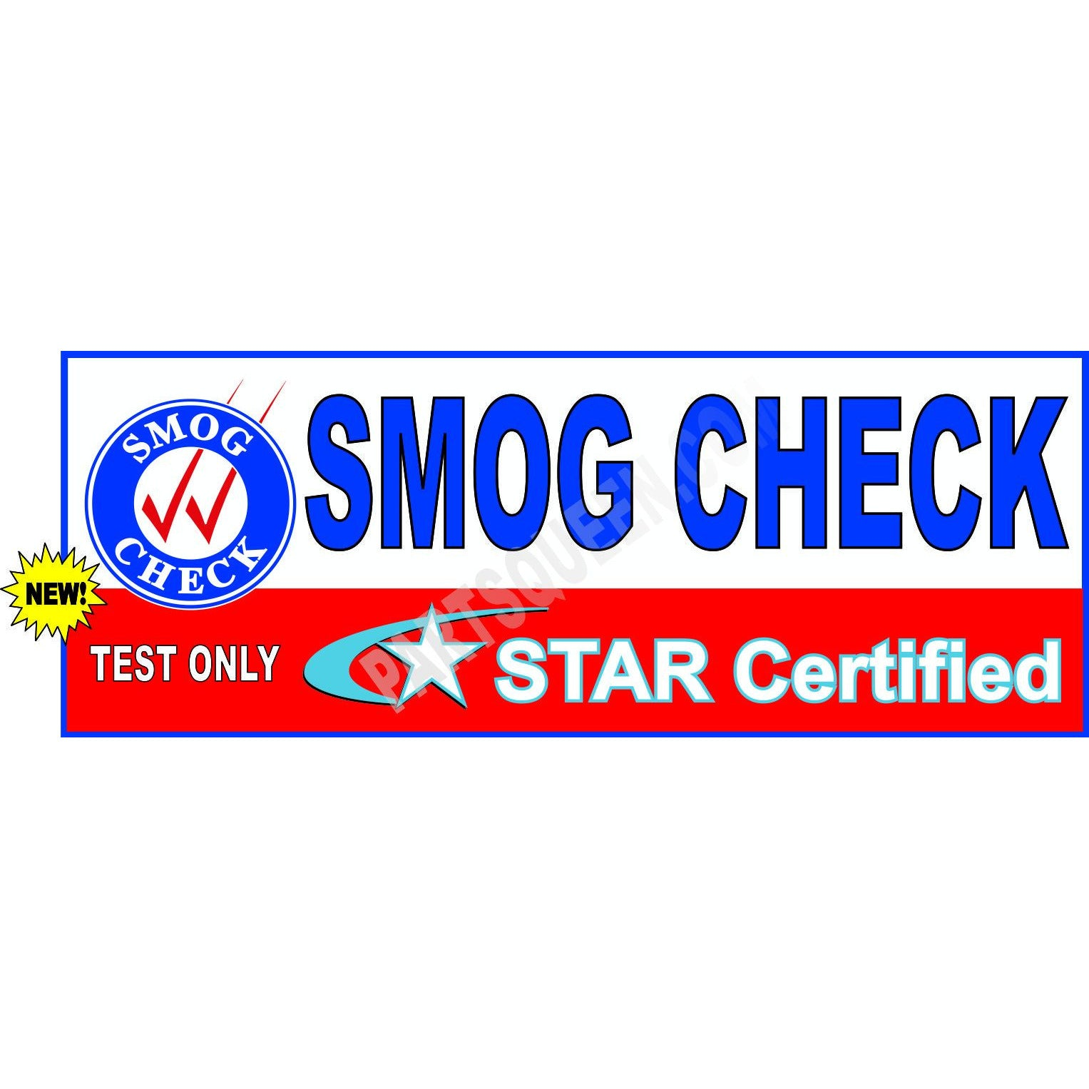 SMOG CHECK STAR CERTIFIED TEST ONLY BANNER / SB-953