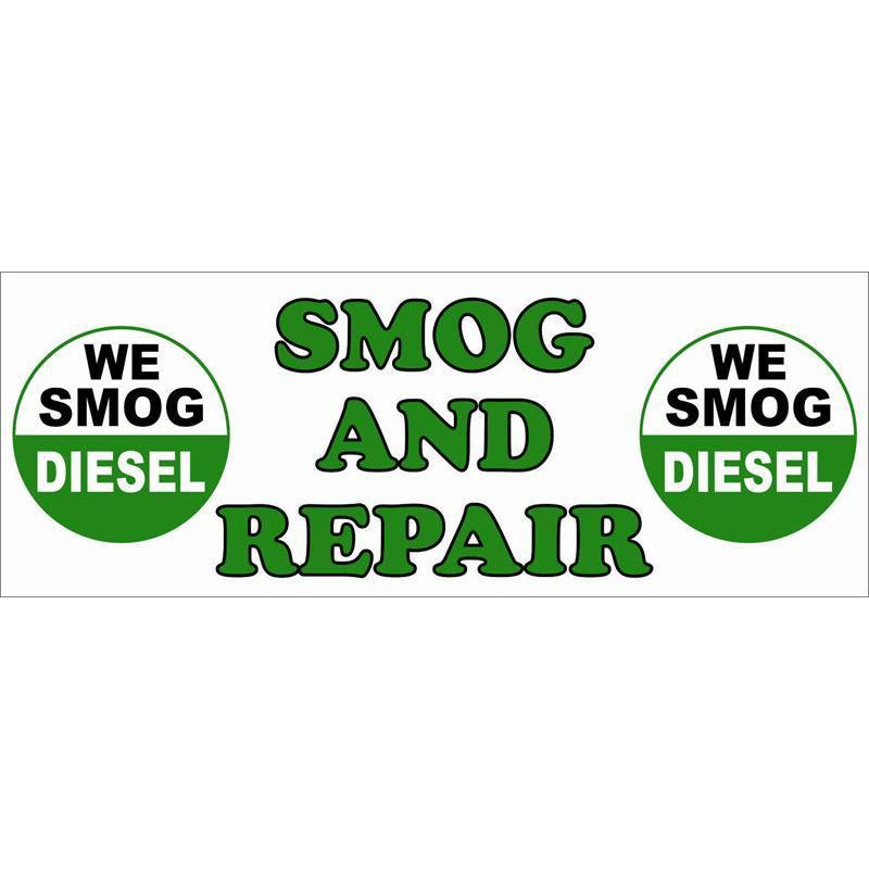 DIESEL SMOG AND REPAIR BANNER #SB01