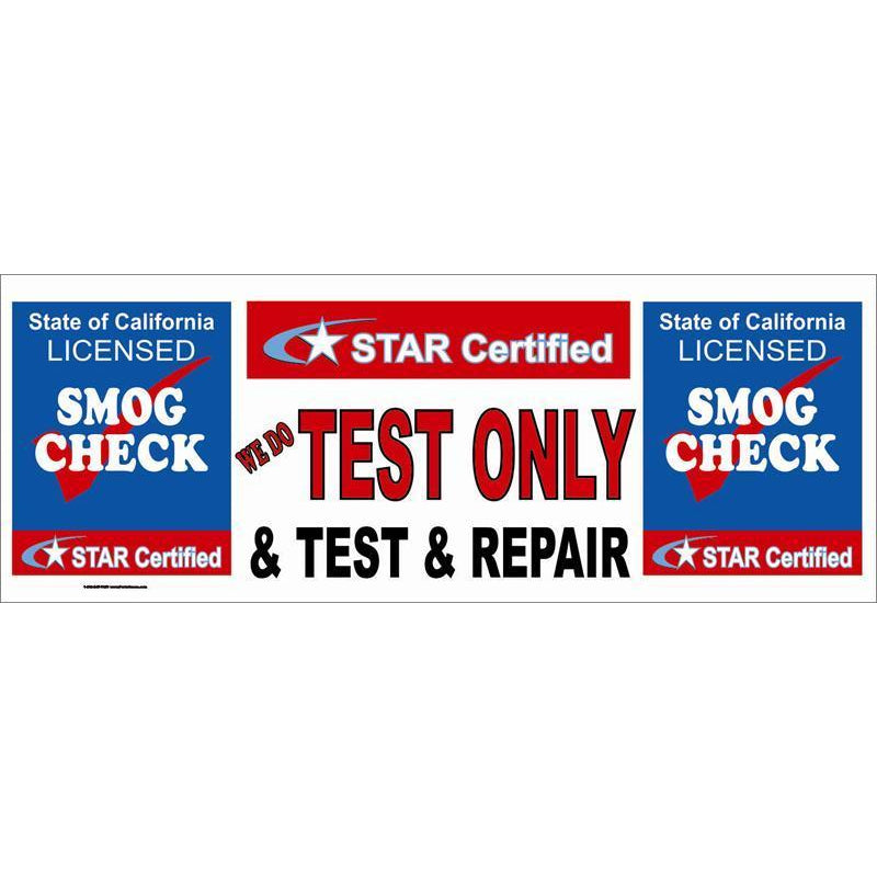 STAR CERTIFIED TEST ONLY & TEST REPAIR BANNER #SB113