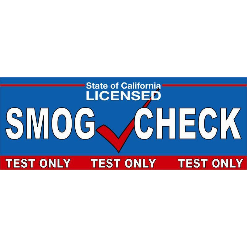 SMOG CHECK TEST ONLY BANNER #SB83