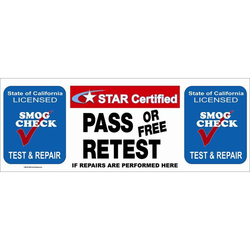 STAR CERTIFIED PASS / FREE RETEST BANNER  #SBSTAR9