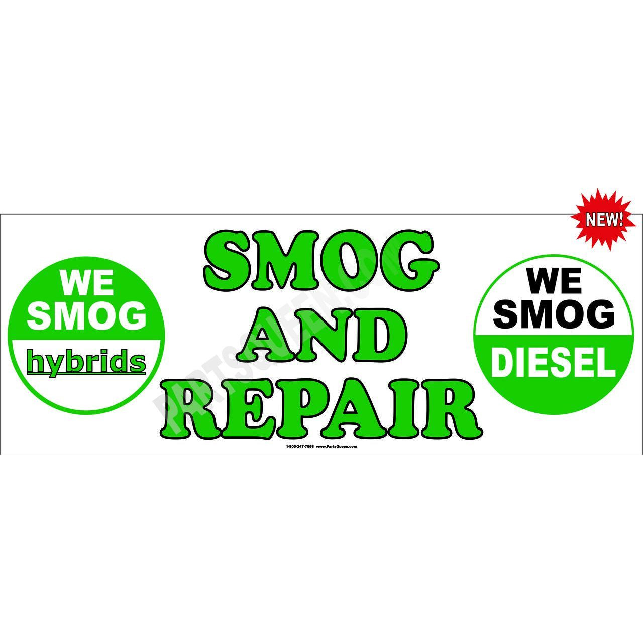 DIESEL & HYBRID SMOG AND REPAIR BANNER # SB02