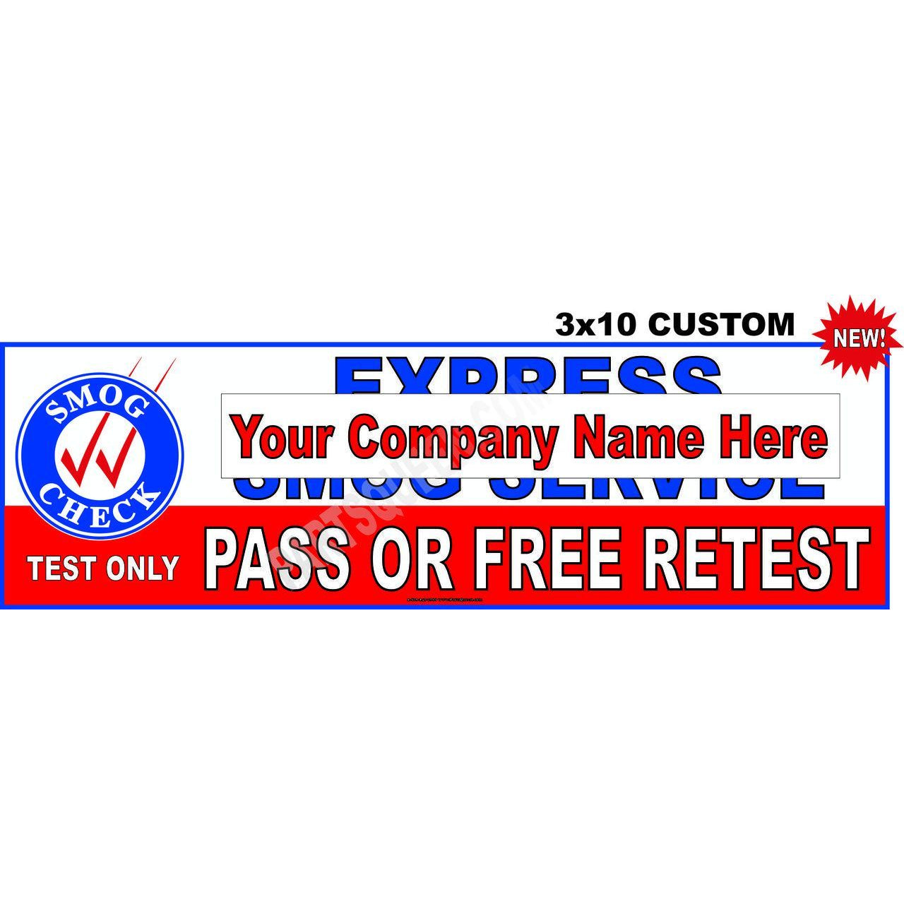 CUSTOM BANNER PASS OR FREE RETEST # SB-99-7