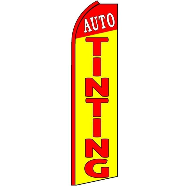 AUTO TINTING YELLOW RED SWOOPER FLAG K429