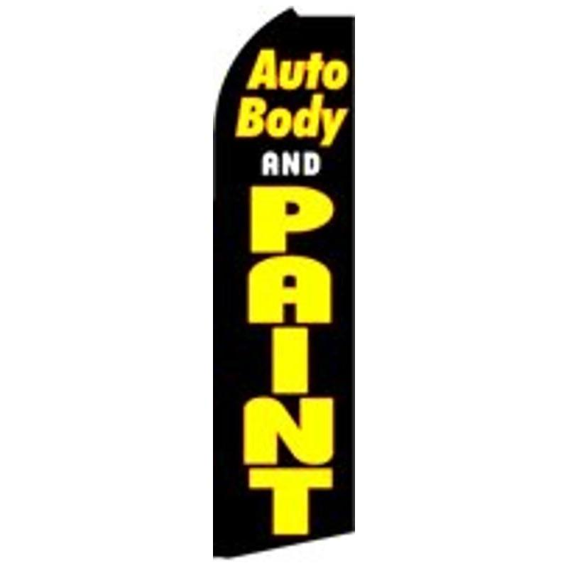 AUTO BODY & PAINT SWOOPER FLAG # SF-K433