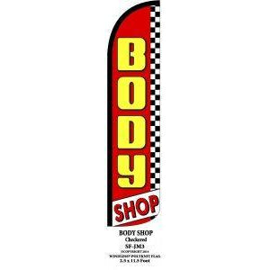 BODY SHOP WINDLESS SWOOPER FLAG # W-SF-JM3