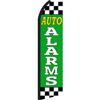 AUTO ALARMS GREEN SWOOPER FLAG #RB5
