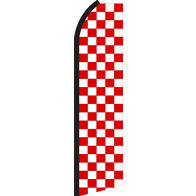 RED WHITE CHECKER SWOOPER FLAG #RS9