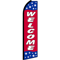 WELCOME PATRIOTIC SWOOPER FLAG SFSB9