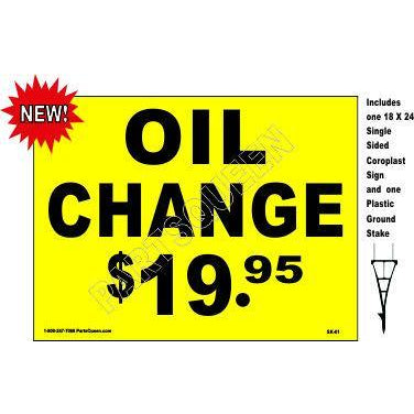 Stake Sign Kit Oil Change