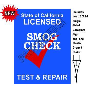 Stake Sign Kit Smog Check Test & Repair