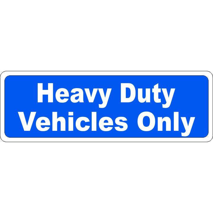 HEAVY DUTY VEHICLES ONLY #SSD