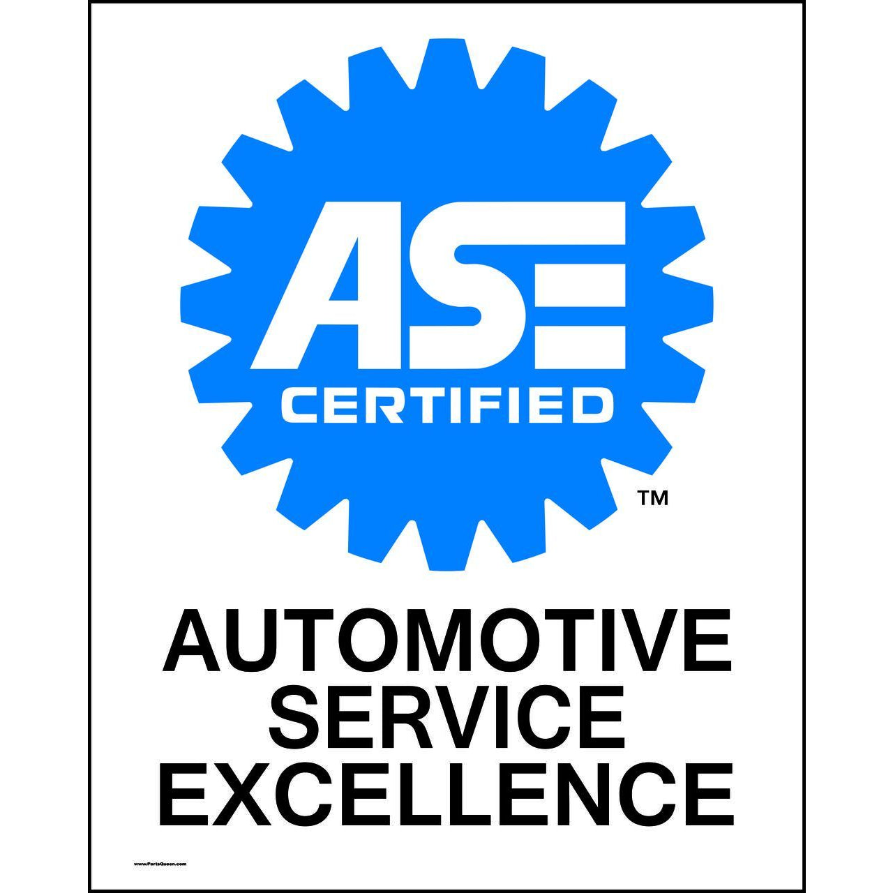 ASE CERTIFIED MECHANICS, 24 X 30 METAL SIGN DS-ASE