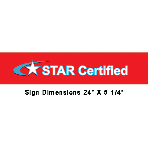 STAR CERTIFIED DECAL