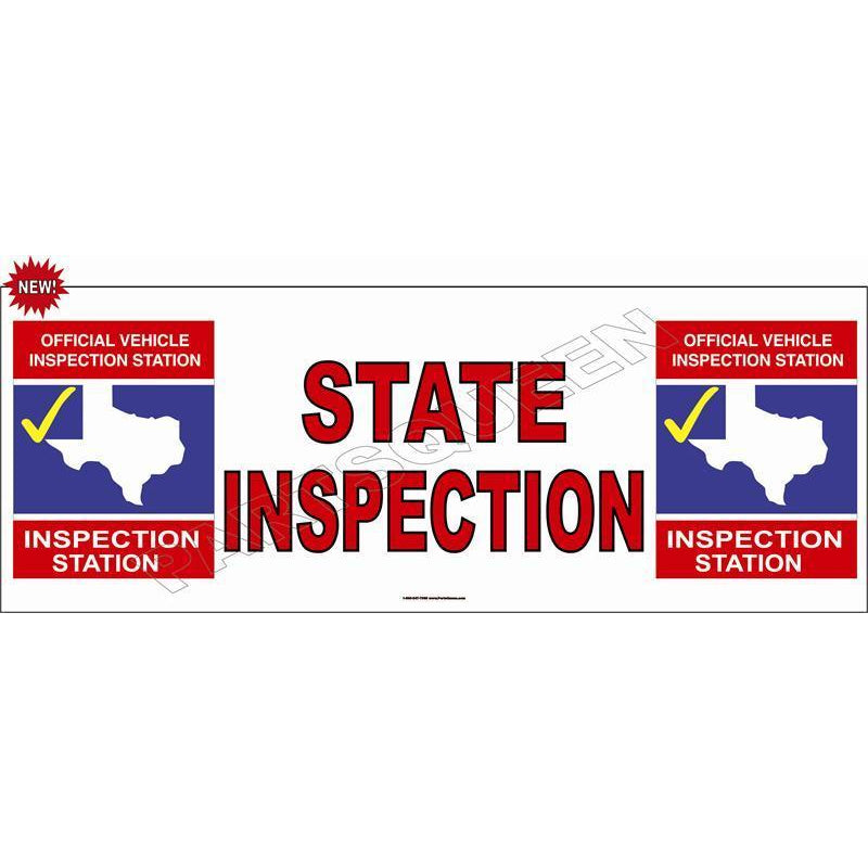 STATE INSPECTION BANNER #TXB1