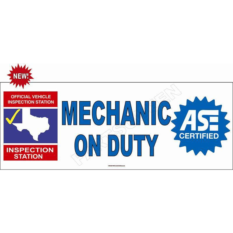 MECHANIC ON DUTY BANNER #TXB2
