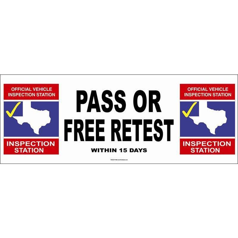 PASS OR FREE RETEST BANNER #TXB4