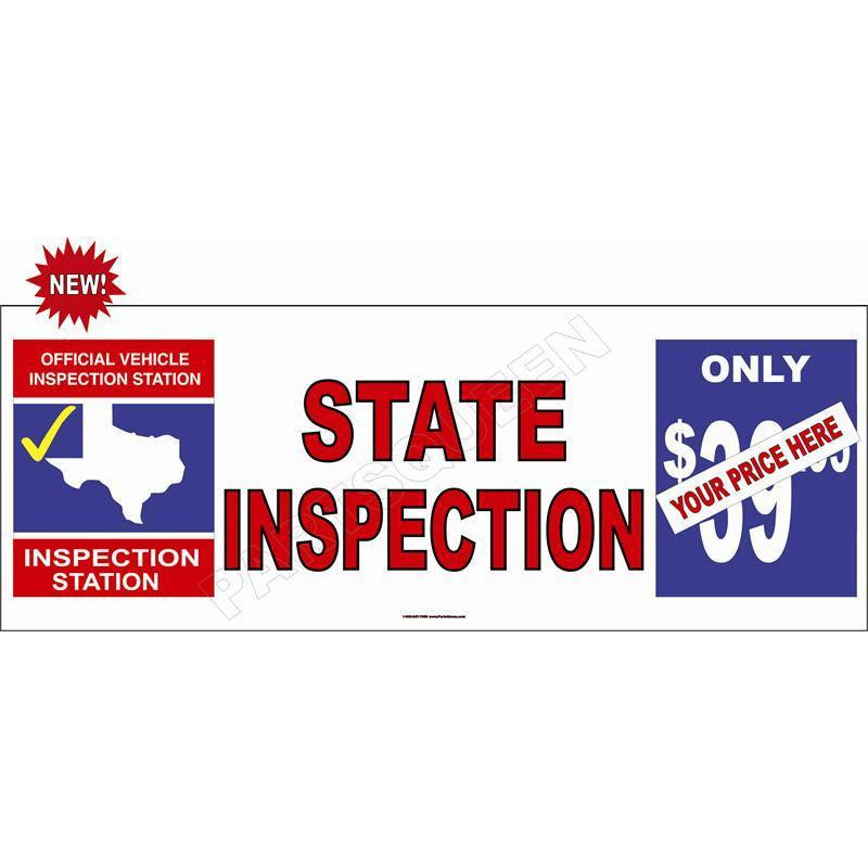 STATE INSPECTION $ BANNER #TXB6