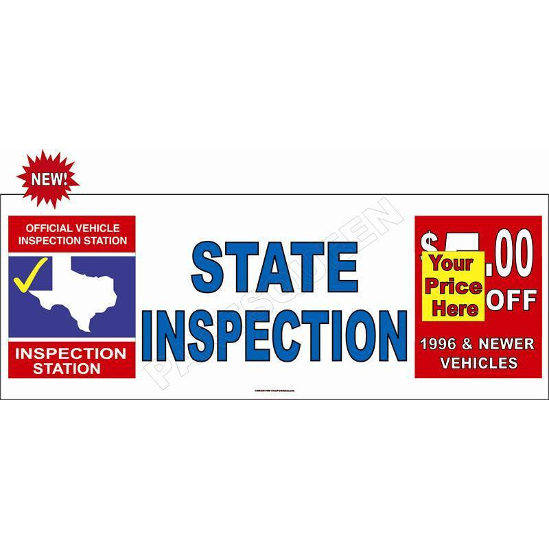 STATE INSPECTION $ BANNER #TXB7