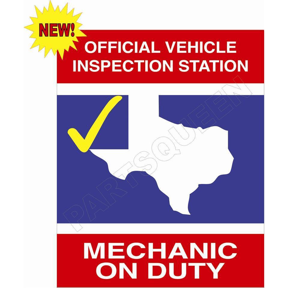 TEXAS STATE INSPECTION SIGN TXS1DS