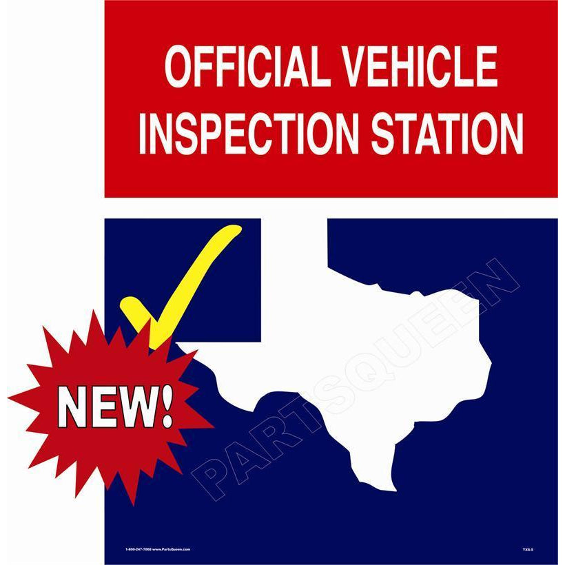 TEXAS STATE INSPECTION SIGN TXS-5
