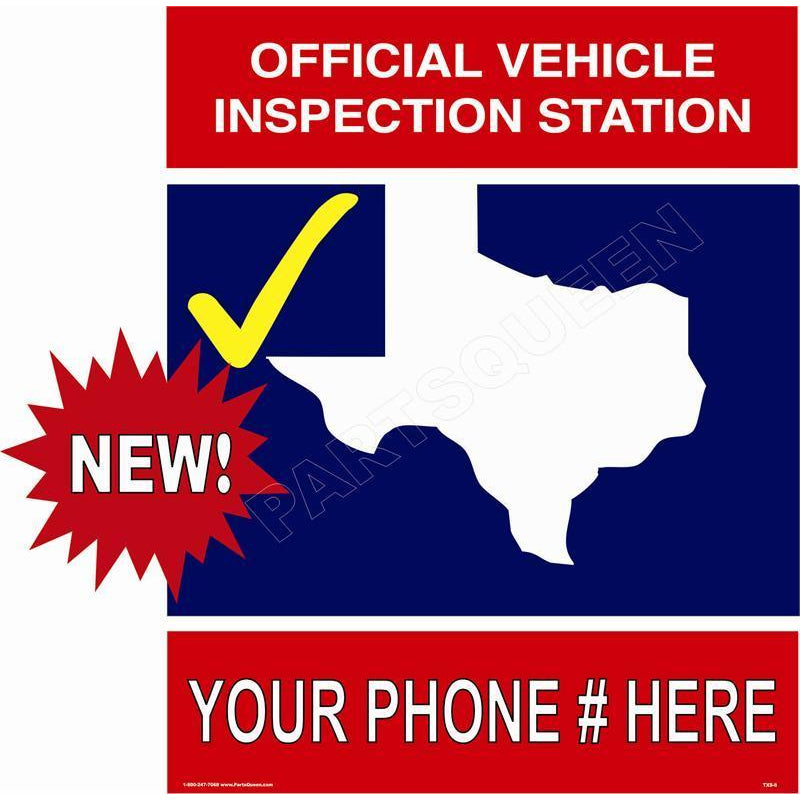 TEXAS STATE INSPECTION SIGN TXS-6
