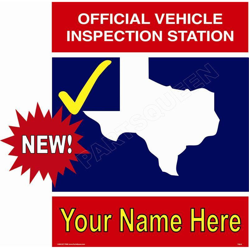 TEXAS STATE INSPECTION SIGN TXS-9