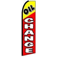 OIL CHANGE SWOOPER FLAG # SF0055