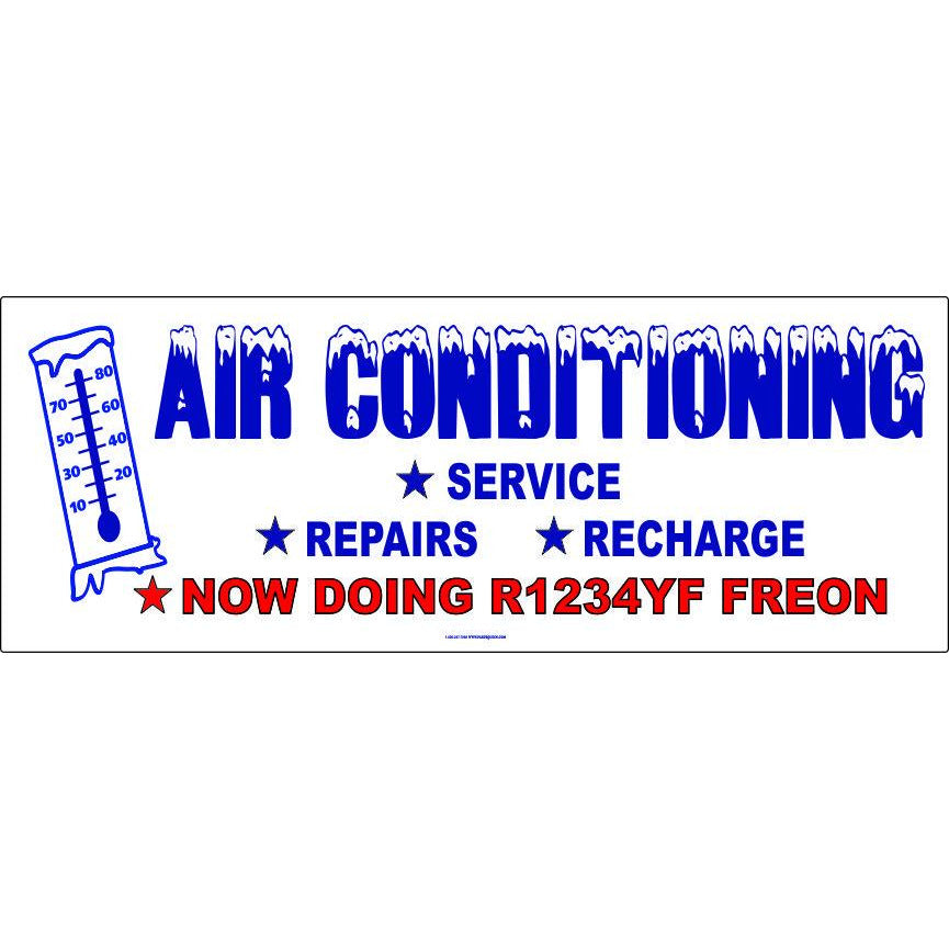 AB-14 A/C BANNER WITH R1234YF FREON NOW AVAILABLE