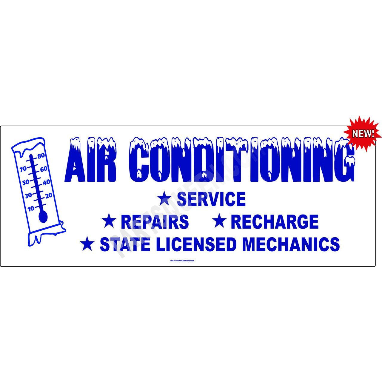 Air Conditioning Sign Vinyl Auto Repair Wall Poster Display Lona Anuncio 3ft X 9ft A//C Service Here II Banner