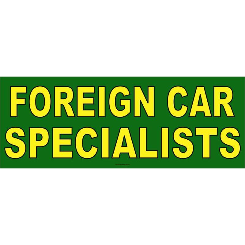 FOREIGN CAR SPECIALISTS BANNER #AB136