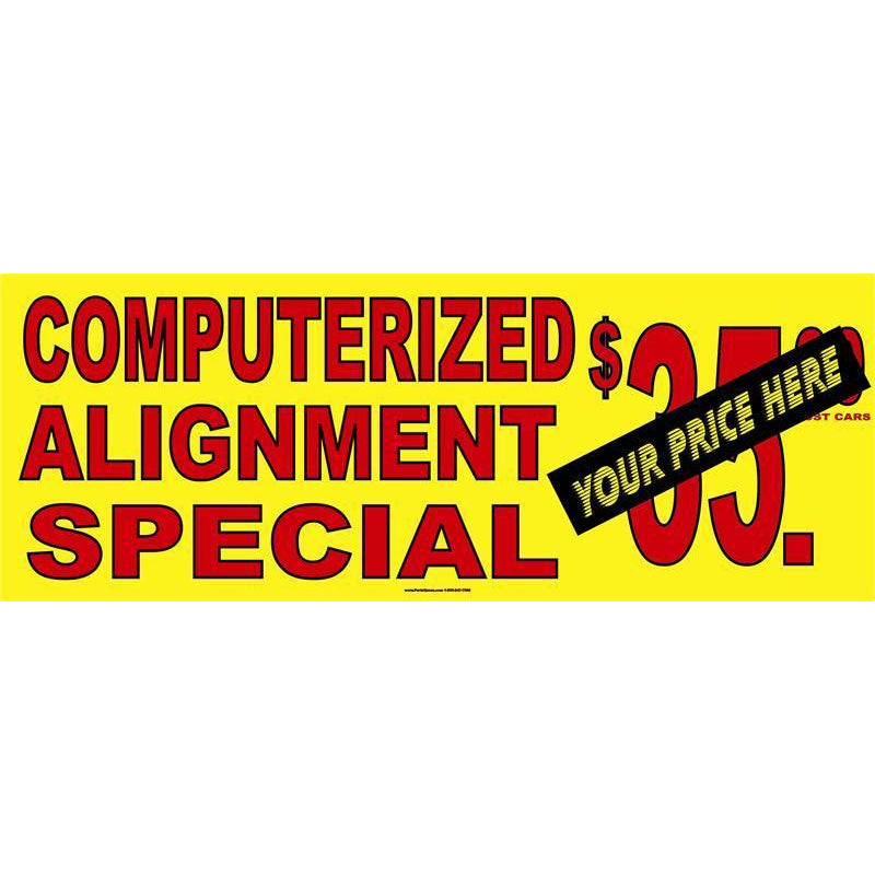 COMPUTERIZED ALIGNMENT BANNER #AB20