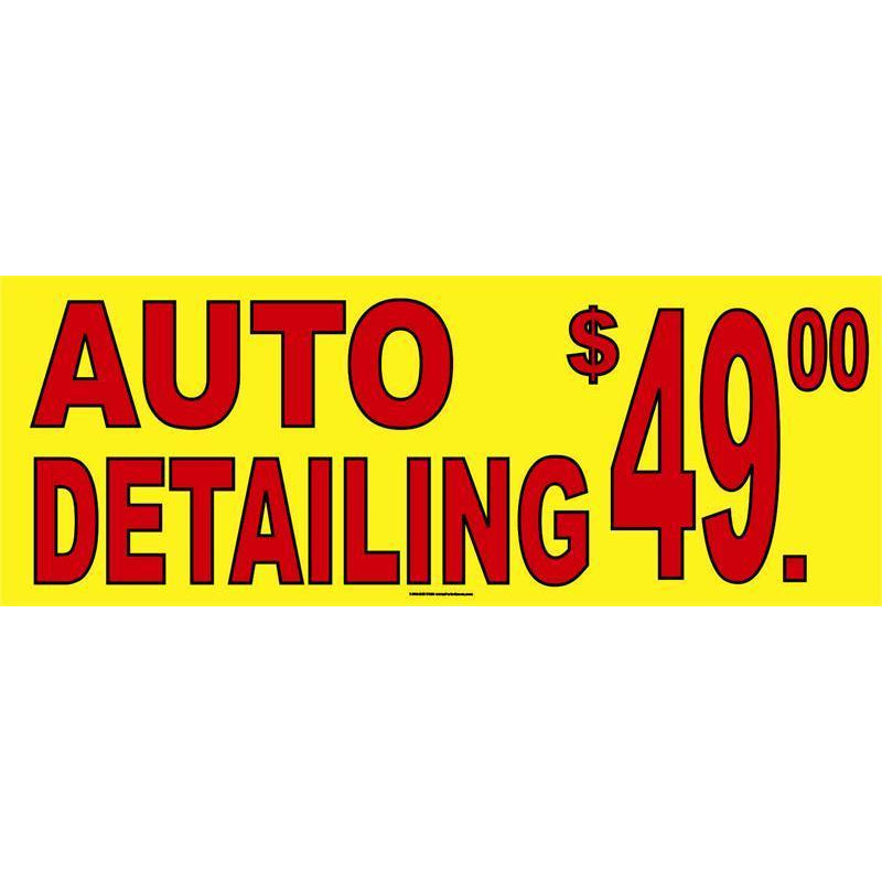 AUTO DETAIL PRICED BANNER #AB255