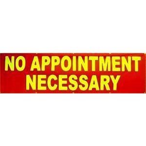 NO APPOINTMENT BANNER #AB175