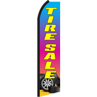 TIRE SALE RAINBOW SWOOPER FLAG # RZ0