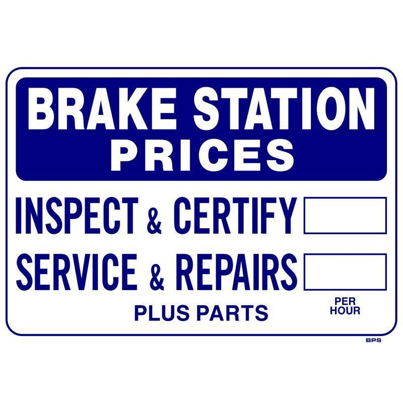 BRAKE PRICE SIGN  #BPS