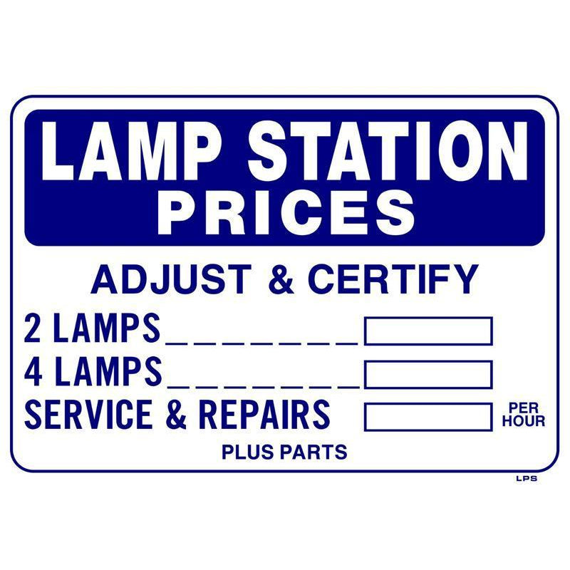 LAMP STATION SIGN #LPS