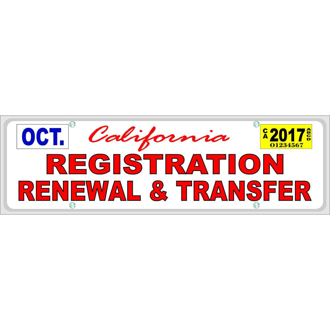 CALIFORNIA REGISTRATION #SB106