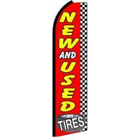 TIRES NEW & USED SWOOPER FLAG  # SF0052